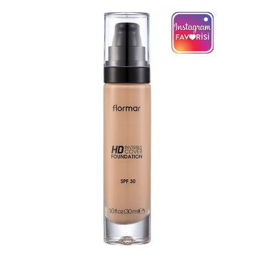 Flormar - Invisible Cover Hd Fondöten - Light Ivory